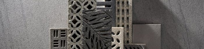 Decorative composite stone gratings and panels Jonite